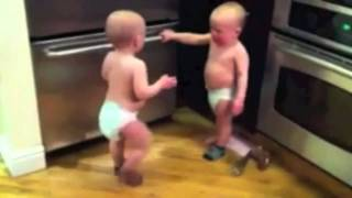 Baby Twins talking to each other (what they REALLY say)