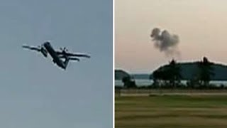 Ketron Island Plane Crash ✈️ - Hijacked Seattle Plane Insane Footage, Crash Damage