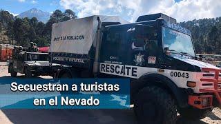 Guardia Nacional realiza operativo en Nevado de Toluca por secuestro de turistas
