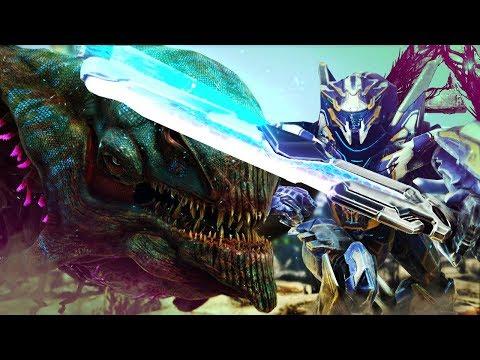 ARK Extinction - MEGA MECH VS DESERT KAIJU! OUR FIRST TITAN - ARK Extinction Gameplay