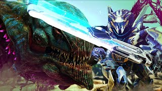 ARK Extinction - MEGA MECH VS DESERT KAIJU! OUR FIRST TITAN - ARK Extinction Gameplay