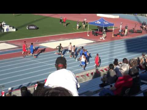 Bryce Kirby 100m final @ Mountain West Conference Championship
