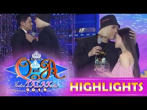 It's Showtime Miss Q and A: Vice Ganda kisses Ate Girl Jackque and Kuya Escort Ion