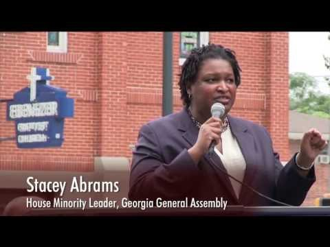 State Representative Stacey Abrams, House Minority Leader of the Georgia General Assembly
