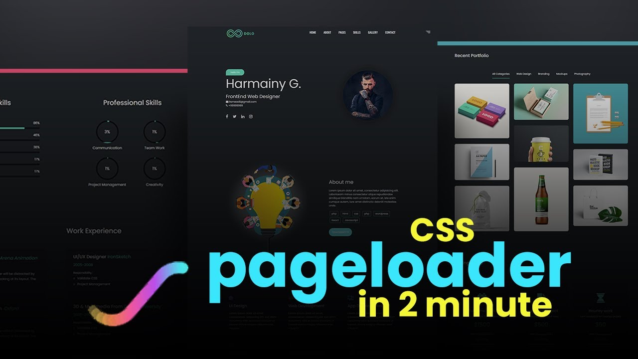 How to make CSS Page Loader in 2minute   Website Design