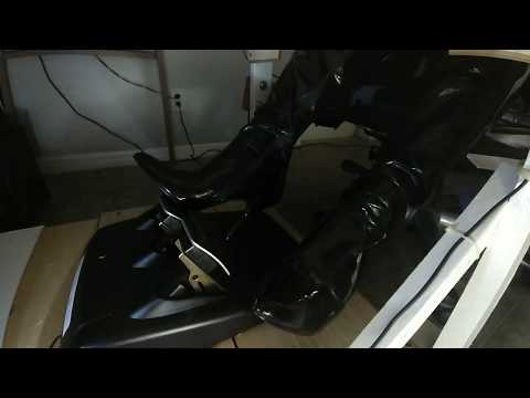 Pedal Pumping in Pleaser PVC Thigh High Boots