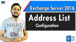 11- How to create address list in exchange server 2016 in Hindi