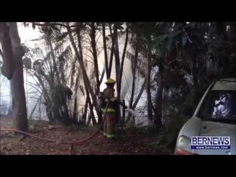 Firemen Extinguish Paget Brush Fire, June 26 2013