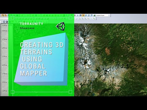 TerraLand - Creating 3D Terrains From Custom Heightmap & Satellite Imagery Using Global Mapper