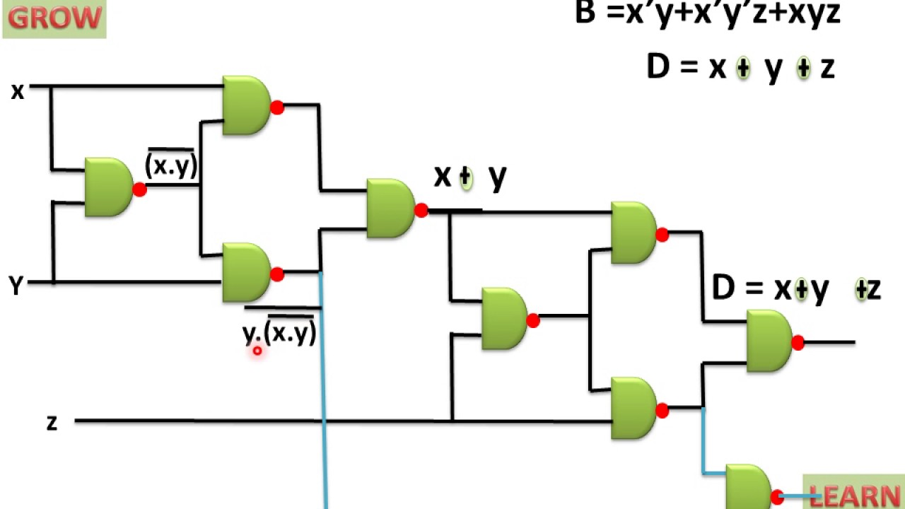 small resolution of implimentation of full subtractor using nand gate youtube circuit diagram for full adder using nand gate