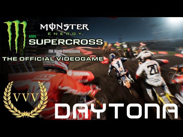 Monster Energy Supercross Gameplay Daytona International Speedway