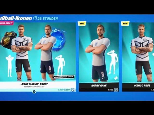 Harry Kane Marco Reus Skin Fortnite Item Shop 12 06 21 Season 7 Youtube