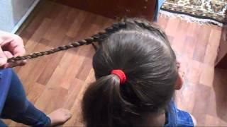 Простая и оригинальная прическа в школу с плетением на каждый день Easy school hairstyle♥