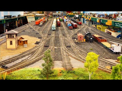 Beautiful Private Model Railroad HO Scale Gauge Train Layout
