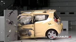 IIHS - 2013 Chevrolet Spark - side crash test / GOOD EVALUATION /