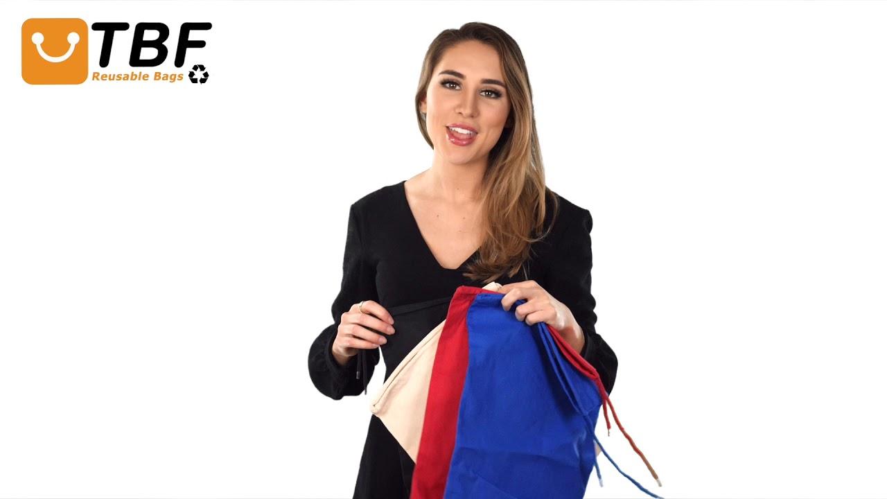 7e2d30f7adb Product Video - SBG10 - Cotton Shoe Bags / Cheap Drawstring Bags