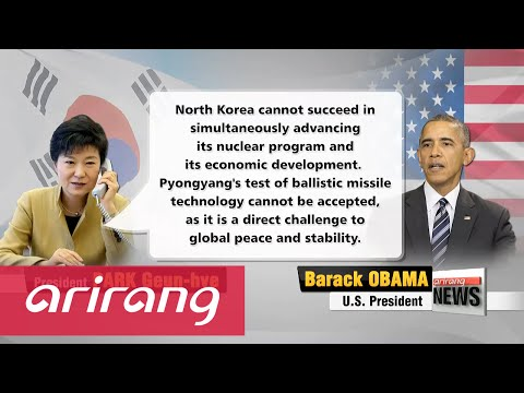 President Park speaks with Pres. Obama, PM Abe on N. Korea