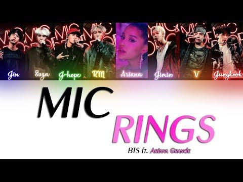 Download BTSXAriana Grande - MIC RINGS (Lyrics Eng/Rom/Han)