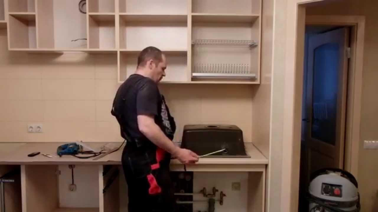 схема сборки кухонного гарнитура 1,5м