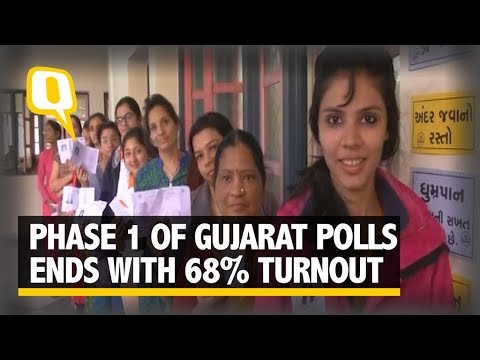 68% Voter Turnout At The End Of Phase 1 of Gujarat Polls | The Quint