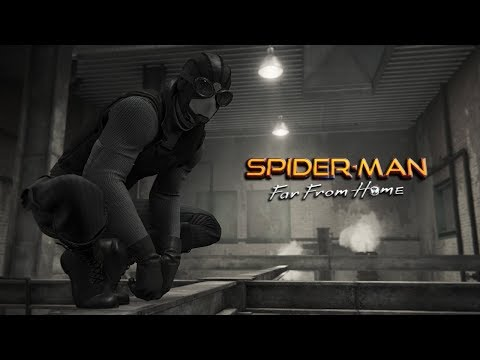 SPIDER-MAN FAR FROM HOME, STEALTH SUIT TAKEDOWNS!! (SPIDER-MAN PS4)