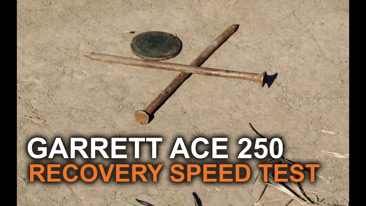 garrett ace 250 recovery speed test youtube. Black Bedroom Furniture Sets. Home Design Ideas