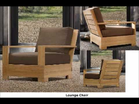 Wood joy outdoor teak furniture sets youtube for Wooden outdoor furniture