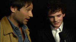 David duchovny and Anton Yelchin