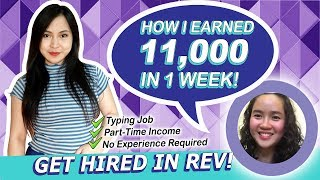 Be a Part-time Transcriptionist in REV and Earn 11,000 pesos! Work from Home PH