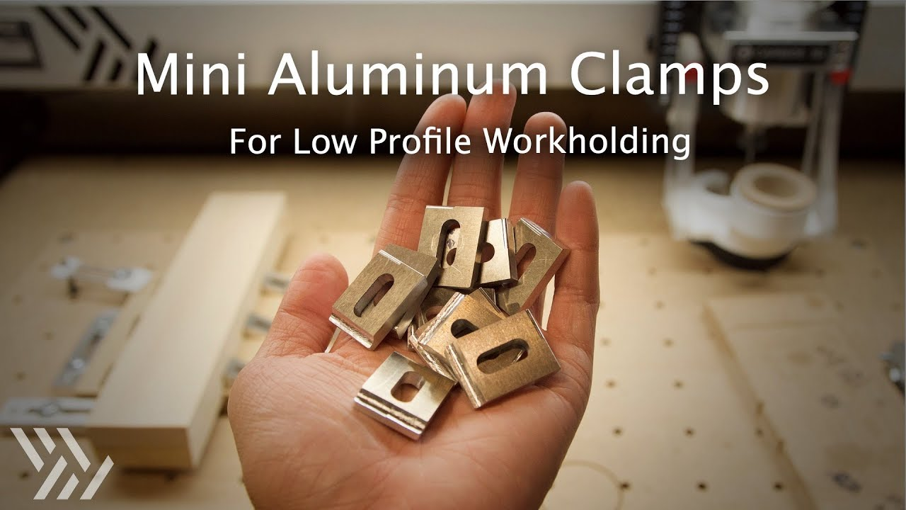 Making Mini Aluminum Clamps on my Hobby CNCs - #132