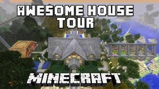 Minecraft:  Awesome Survival House Tour  ( ScarlandHouse Project Part 35)