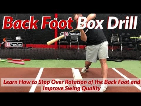 Stop Over Rotating In Your Swing | Back Foot Box Drill | Baseball Rebellion