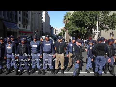 Metered Taxi Drivers Strike Against Uber in Cape Town CBD