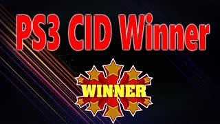 PS3 CID Give Away Winner 2019