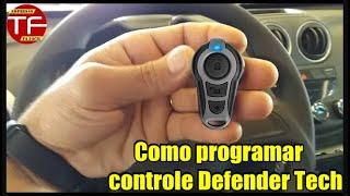 Como programar controle do alarme Defender Tech