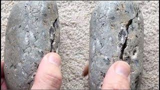 Anh nhặt được hòn đá lạ, 35 năm sau tách đôi nó ra mới biết đây là kho báu