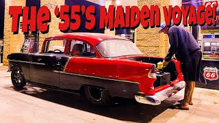 Murder Nova's LS/Procharged 1955 Chevy Maiden Voyage! This Thing Is ROWDY!