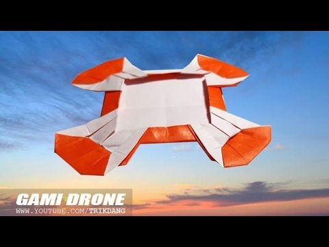 ORIGAMI BOOMERANG for KIDS - How to make a Paper Airplane that FLIES BACK | Gami Drone