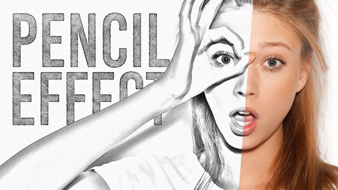 Pencil sketch drawing effect photoshop tutorial