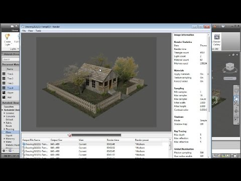 AutoCAD 3D Cottage Material, Lighting and Render