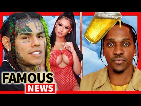 6ix9ine Got Two Exotic Dancers Pregos & Pusha T Beer Thrown at Toronto Show | Famous News