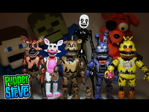 Five Nights at Freddys FNAF FUNKO Articulated 5inch Series 2 Action Figures Set Unboxing Review