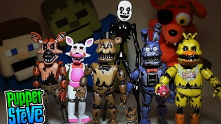 Five Nights at Freddy's FNAF FUNKO Articulated 5inch Series 2 Action Figures Set Unboxing Review