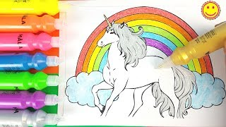 🦄 UNICORN 🦄 Painting with IKEA paints Coloring Pages For Children
