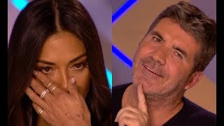 3 Fun & Emotional  1  Simon Stops Them 2  His Girlfriend Applied For Him 3  Judges In TEARS!