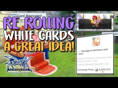 RE-ROLLING WHITE CARDS IS A DECENT IDEA - RAGNAROK M: ETERNAL LOVE