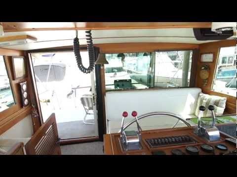 1988 ROUGHWATER 42' Pilothouse 'Boat Video Tour' Offered by Chuck Hovey Yachts
