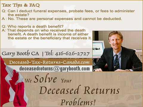 Tax Tips + FAQ | Deceased-Tax-Returns-Canada.com (Toronto Services)