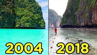 10 مناطق سياحية مذهلة لم تعد موجودة الآن !!