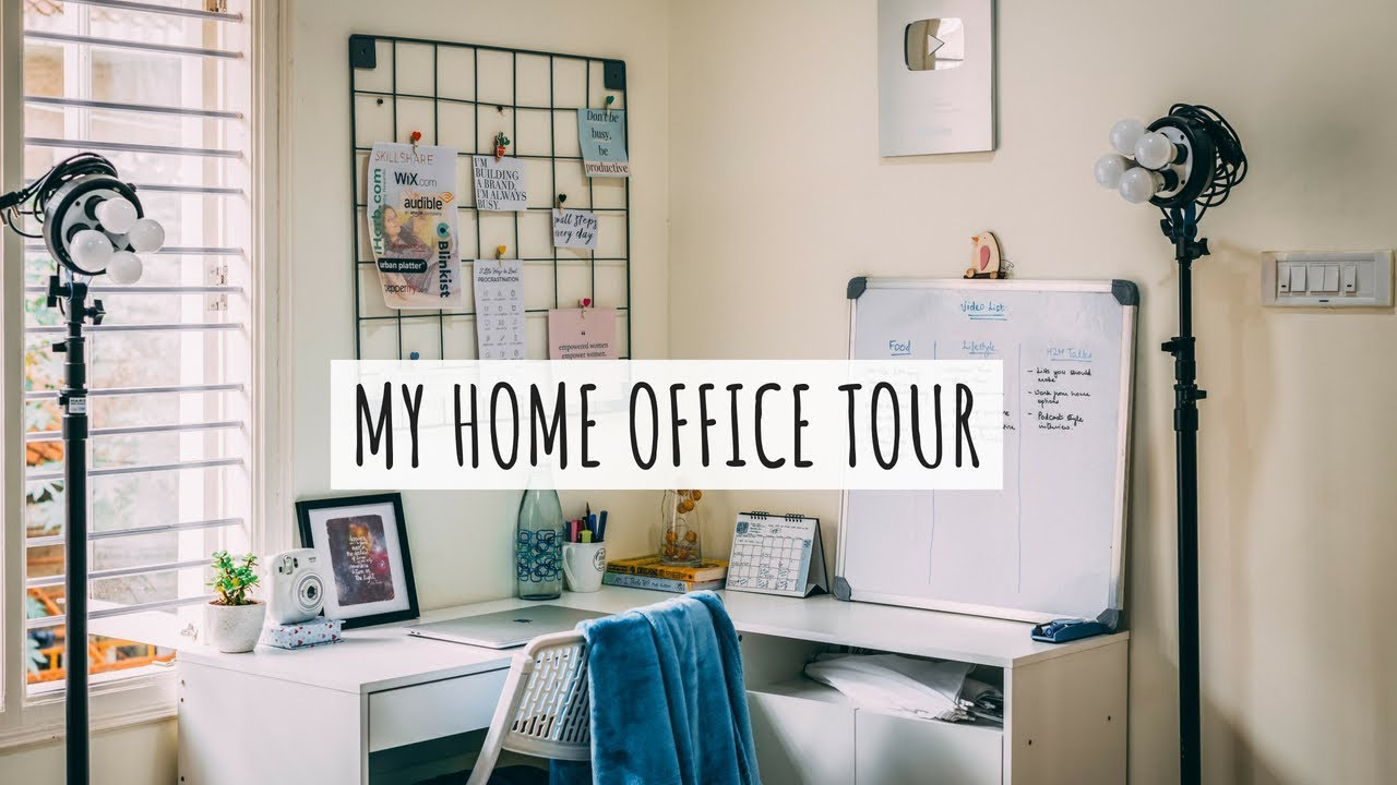 My Home Office Tour Office Tour India Home Office Decor Ideas Youtuber Office Setup Tour Youtube